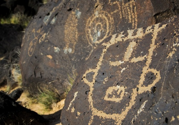 Petroglyph national monument everywhere once