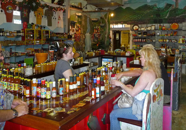 peppers of key west, Hot Sauce Bar