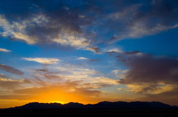 Sunset on Wilcox, AZ