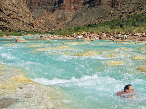 Body Surfing the Little Colorado in the Grand Canyon