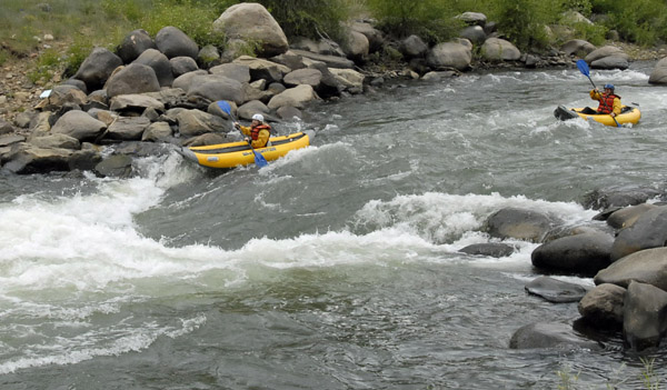 Kayaking the Lower Animas River, Durango, CO