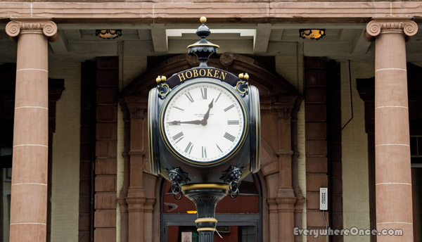 Hoboken New Jersey Clock