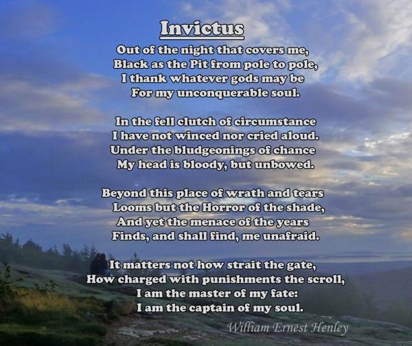 Invictus, William Ernest Henley