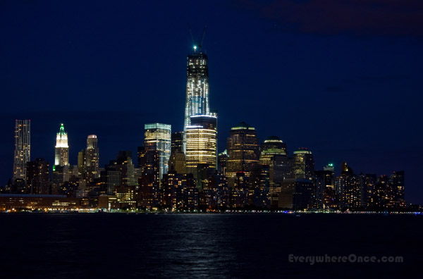 Lower Manhattan Nighttime Skyline