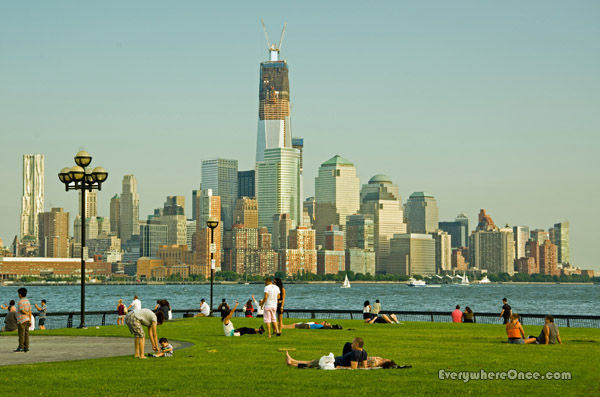 Hoboken New Jersey Pier A Park Skyline View