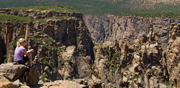 Shannon at the Black Canyon of the Gunnison