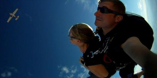 Skydive, tandem jump, first jump, adventure travel, Moab