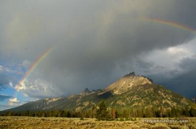 Grand Teton National Park, Wyoming, Landscape Rainbow