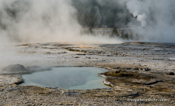Yellowstone National Park Mammoth Hot Spring Steam