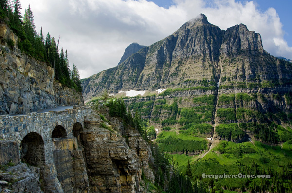 Glacier National Park Going to the Sun Road Three Arches