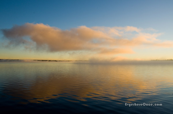 Lewis Lake Sunrise Yellowstone National Park Cloud Reflection