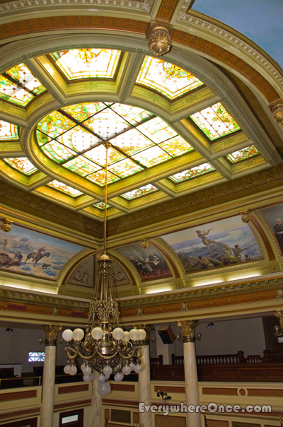 Montana State Capitol Chandelier Stained Glass