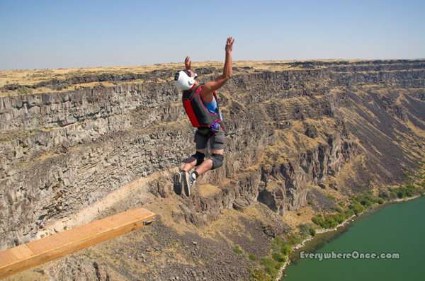 BASE Jumper Perrine Bridge Twin Falls Idaho Parachute Adventure