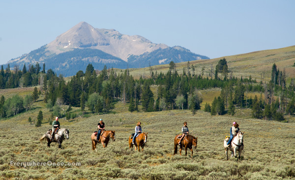 Yellowstone National Park Horseback Ride Landscape