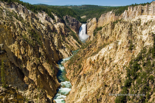 Yellowstone National Park Upper Falls Waterfall Landscape Canyon