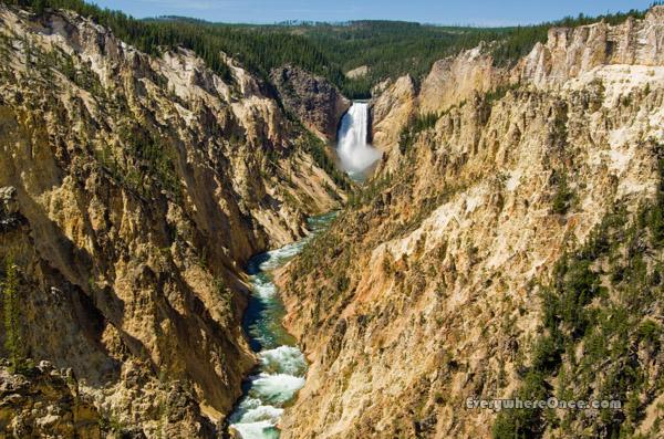 Yellowstone National Park Upper Falls Waterfall Landscape Canyon