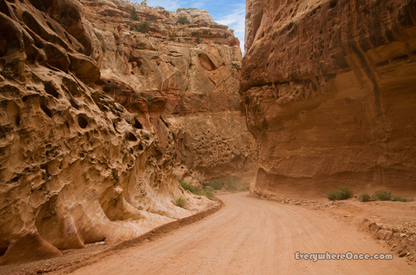 Capitol Reef National Park Canyon Roads