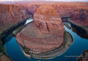 Horseshoe Bend, Colorado River, Page, Arizona, Landscape, Canyon