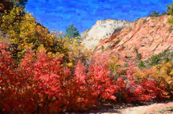 Impressionist Zion National Park Utah
