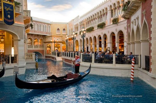 Las Vegas Venetian Hotel, Venice, Canals, Vaporetto