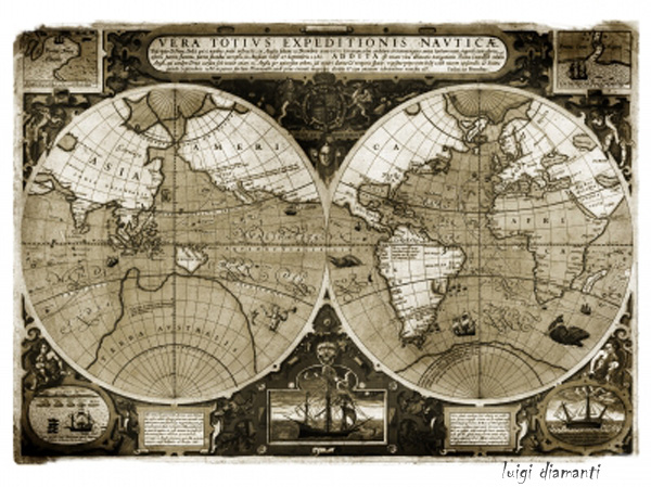 Ancient map, old map