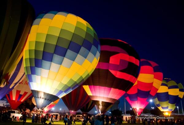 Yuma Balloon Festival Glow
