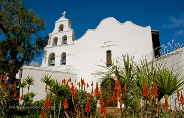 Mission San Diego de Alcalá, California, Church