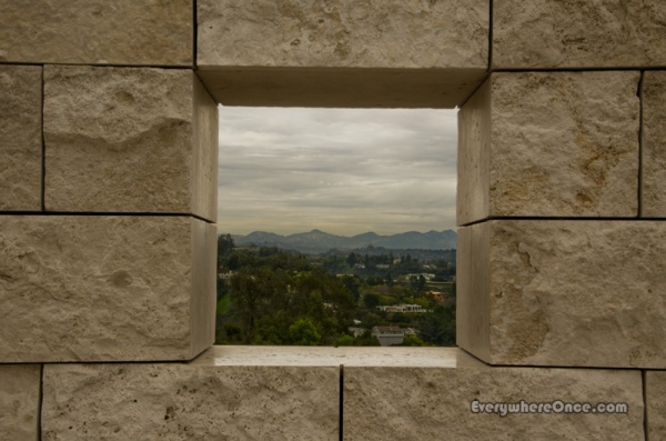Getty Center Framed Landscape