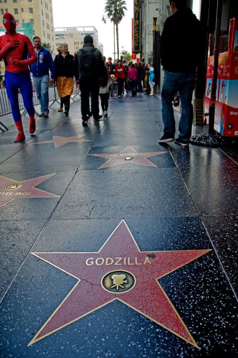 Hollywood Boulevard Godzilla Star