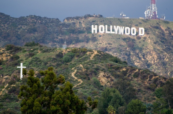 Hollywood Sign and Cross