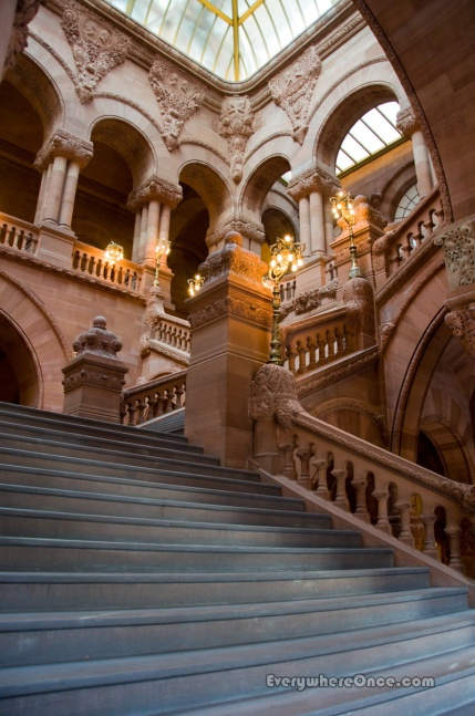 New York State Capitol Great Western Staircase Skylight