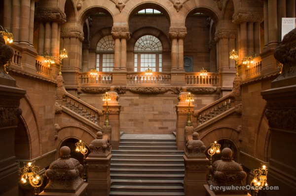 New York State Capitol Great Western Staircase