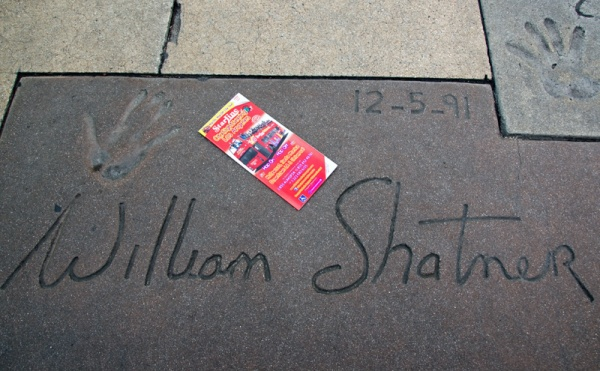 William Shatner Signature Chinese Theater Hollywood