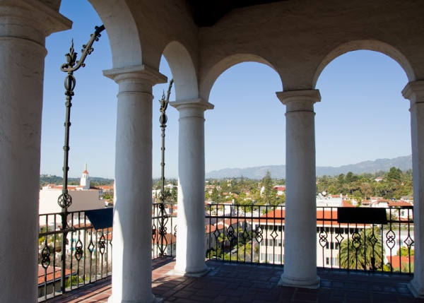 Santa Barbara Courthouse Clocktower View