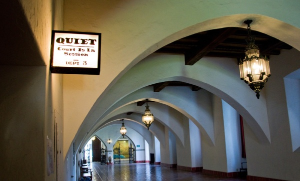 Santa Barbara Courthouse In Session