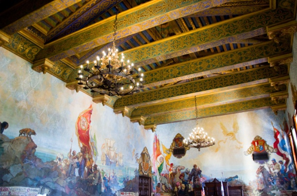 Santa Barbara Courthouse Mural Room