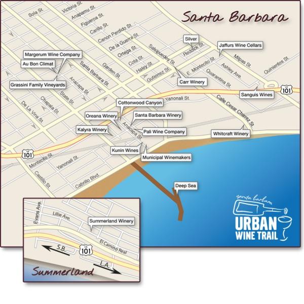 Urban Wine Trail Map