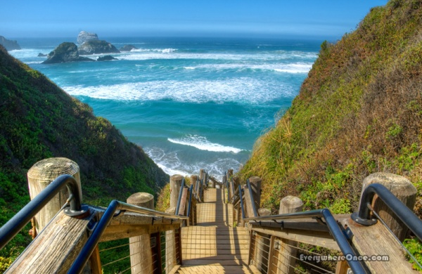 Big Sur Sand Dollar Beach Stairs