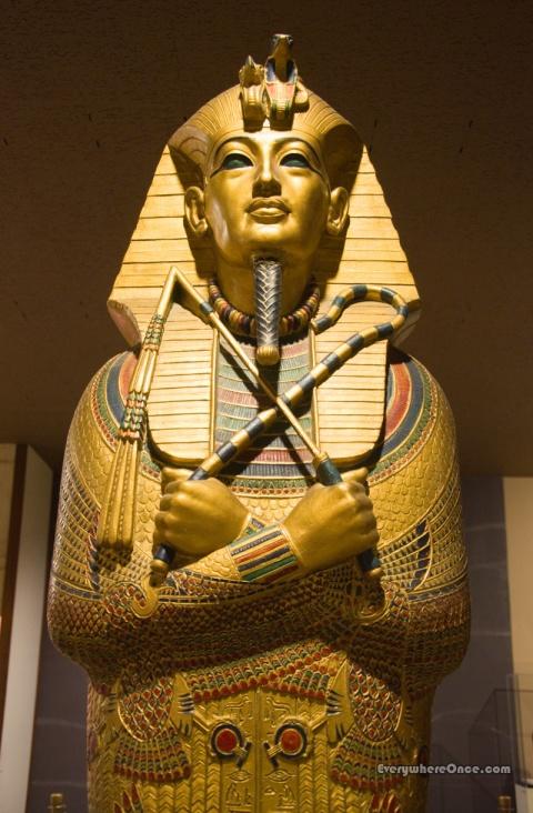 Replica of King Tutankhamun's Sarcophagus