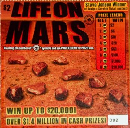 Scratch off 1 alien, win $2. 2 aliens, $5 . . .