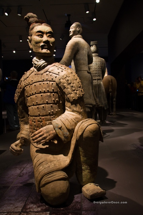 Terracotta Army Kneeling Armored Archer