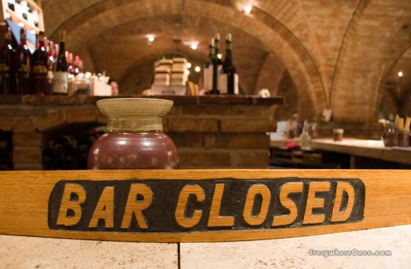 Bar Closed Sign