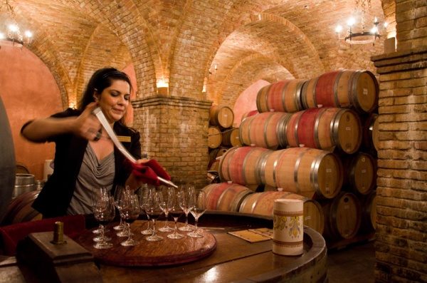 Castello di Amorosa Cellar and Barrel Tasting