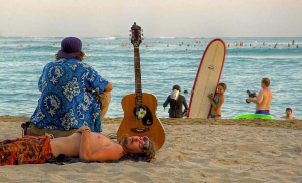 Beach Bumming on Waikiki