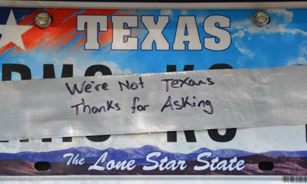 We're not from texas