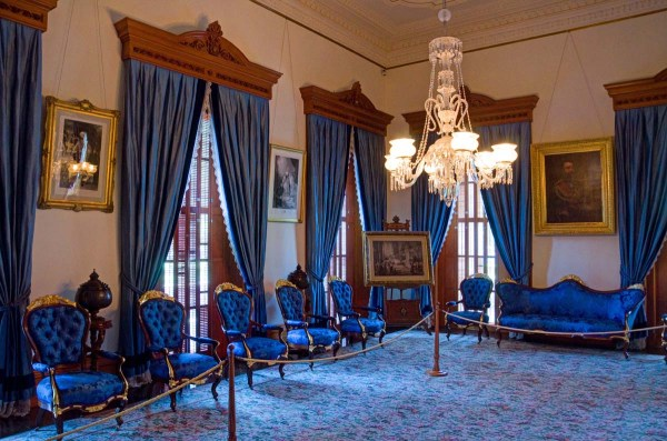 Blue Room Iolani Palace Honolulu Hawaii