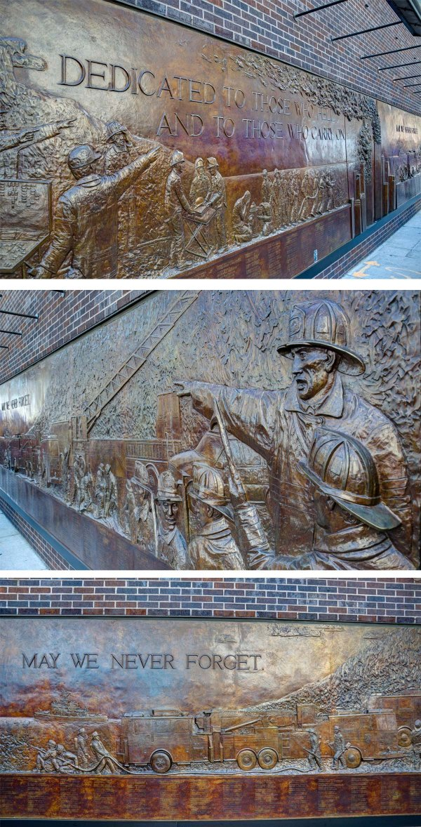 FDNY Memorial Wall Ground Zero (Greenwich St & Liberty St) New York, NY