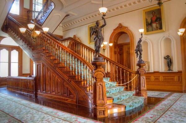Iolani Palace Grand Hall Staircase Honolulu Hawaii