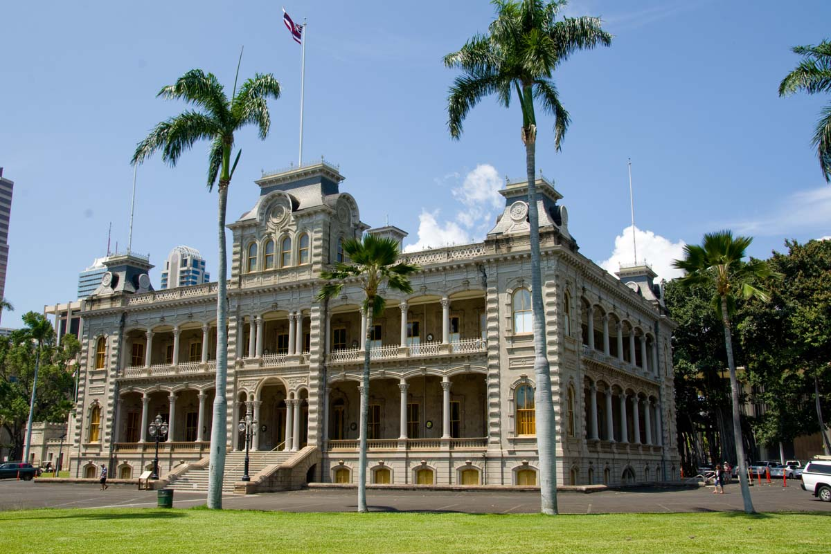 iolani palace The building shown as headquarters for the fictional hawaii five-o state police group is the same in both the old series and the new one that premiered monday although it did once house hawaii state offices, iolani palace has not served as the set for steve mcgarrett's office interior in either.
