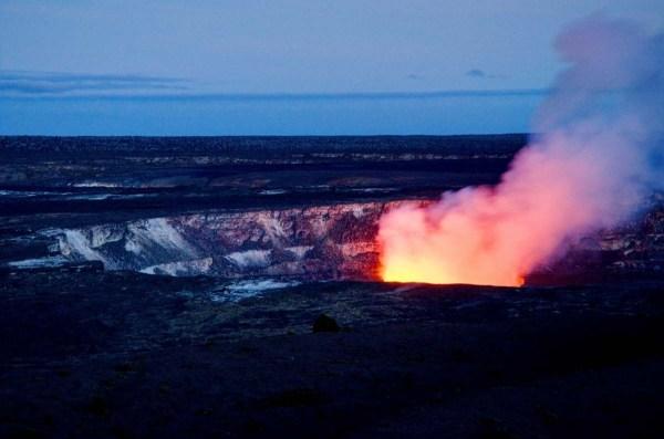 Halema'uma'u Crater Night Glow, Volcanoes National Park, Hawaii